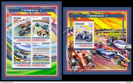 NIGER 2016 - Formula 1, Cars M/S + S/S. Official Issue - Cars