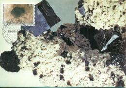 CM-Carte Maximum Card # 2003-Belgique-Belgium #Geologie-geology# Minéraux-Minerals # Mineralien# Galène,Bleiglanz