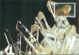 CM-Carte Maximum Card # 2003-Belgique-Belgium #Geologie-geology# Minéraux-Minerals # Mineralien# Quartz, Quarz