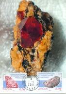 CM-Carte Maximum Card # 2011-TAAF-FSAT #Geologie-geology# Minéraux-Minerals # Mineralien#  Zircon,Zirkon # St Paul