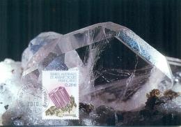 CM-Carte Maximum Card # 2010-TAAF-FSAT #Geologie-geology# Minéraux-Minerals # Mineralien# Tourmaline,turmalin #Kerguelen
