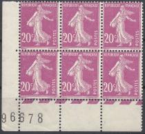 FRANCE SEMEUSE N°190 COIN DE FEUILLE AVEC N° 1926 NEUF ** LUXE MNH