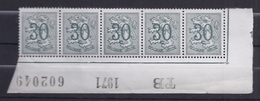 1027** Bord De Feuille Avec Inscriptions Marginales