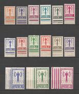 FRANCE  1943  TIMBRES  DE  SERVICE  N°  1  /  15   N**    !!!!!!!!!!!!!!!!!  1 €  Sans  Reserve