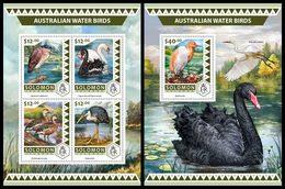 SOLOMON Isl. 2016 - Australian Water Birds, Swans. M/S + S/S