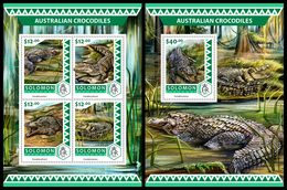 SOLOMON Isl. 2016 - Australian Crocodiles. M/S + S/S