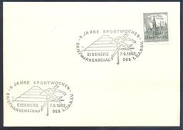 Austria Österreich 1963 Card: Athletics Athletik 5 Jahre Sportwochen Hurdler