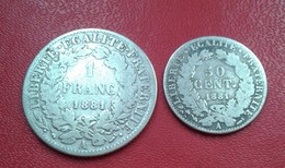 FRANCE 1 FRANC  ET 50 CENTIMES 1881 A CERES   N° 252 D - H. 1 Franco