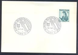 Austria Österreich 1961 Card: Athletics Athletik 3. Union Bundeskampfspiele; Laurel Branch