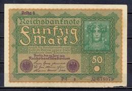 Germany - 1919 - 50 Mark .. -    P-66 ...R 62a.. VF - [ 3] 1918-1933 : Weimar Republic