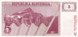 SLOVENIA  5 TOLARJEV    1990  FDS - Slovenia
