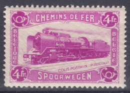 Belgium Railway Stamp 1934 4 Fr. Locomotive Mi#9 Mint Never Hinged - Railway
