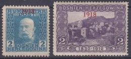 Austria Occupation Of Bosnia 1918 Mi#147-148 Mint Hinged