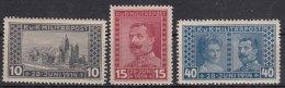 Austria Occupation Of Bosnia 1917 Mi#121-123 Mint Hinged