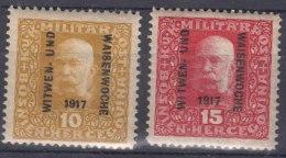 Austria Occupation Of Bosnia 1917 Mi#119-120 Mint Hinged