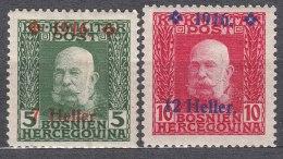 Austria Occupation Of Bosnia 1916 Mi#95-96 Mint Hinged