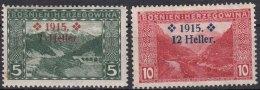 Austria Occupation Of Bosnia 1915 Mi#91-92 Mint Hinged