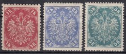 Austria Occupation Of Bosnia 1900 Mi#21-23 Mint Hinged