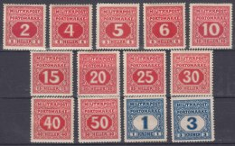 Austria Occupation Of Bosnia Porto 1916 Mi#14-26 Mint Hinged