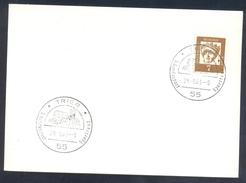Germany Deutschland 1963 Card: Athletics Athetik Leichtathletik: Bundespost Sportfest Treier
