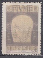 Fiume 1920 Mi#105 Sassone#120c Error - Double Print (doppia Stampa) Mint Lightly Hinged - 8. WW I Occupation