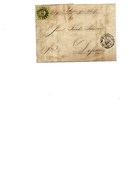 "N° 6 Obl. ""243"" / NÜRNBERG 13 JUIN 1853 S/ LAC Vers DESSAU - Au Dos GFF LEIPZIG/BERLIN. TB - Bayern"