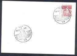 Germany Deutschland 1966 Card: Athletics Athletik Leichtathletik:Jugendmeisterschaften Ulm; Church Kirche Kieza