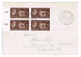 GERMANY/ DDR -  Naturschutz Michel # 561 Auf Brief, Viererblock - 4066