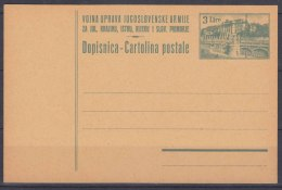 Yugoslavia Occ. Of Italy, Trieste Zone B, Postal Stationery Card In Rare Brown Cardboard Variety, Excellent Mint Cond. - 7. Trieste