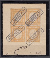 Italy 1861 Mi#6 Sassone#22 Used Piece Of Four