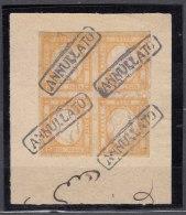 Italy 1861 Mi#6 Sassone#22 Used Piece Of Four - 1861-78 Victor Emmanuel II.