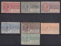 Italy 1926/1928 Posta Aerea Sassone#2A,3,3A,4,5,6,7 Mint Never Hinged (60c Used) - 1900-44 Victor Emmanuel III