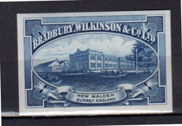Proof Print Bradbury Wilkinson Engraved Stamp MNH Very Fine (e160) - Cinderellas