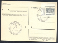 Germany Deutschland 1961 Card: Athletics Athletik Leichtathletik: Track & Field Leichtatletik Meisterschaften Düsseldorf
