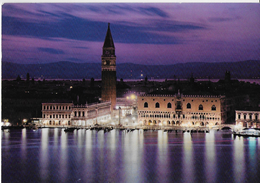 VENETO - VENEZIA - NOTTURNO PIAZZA SAN MARCO - ED ZERELLA - VIAGGIATA 1994 ANNULLO A TARGHETTA - Venezia