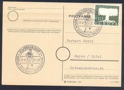 Germany Deutschland 1957 Card: Athletics Athletik Leichtathletik: Track & Field Leichtatletik Meisterschaften Düsseldorf