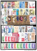 France Année Complete 1990 - 60timbres* * TB