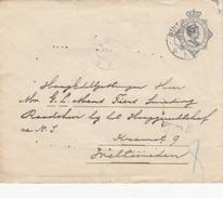 Envelop Postwaarde 10 Cent 9 Okt 1915 Buitenpost Naar Weltevreden