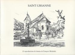 SAINT-URSANNE DOUBS-Canton:Jura,District:Porrentruy,Commune:Clos Du Doubs-12 Reproductions Dessins De François Michalski - Vieux Papiers