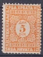 Yugoslavia Kingdom Porto 1921 Mi#58 II Mint Never Hinged - Portomarken