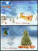 India 2016 Seasons Greetings Christmas Festival Santa Xmas Tree Max Cards # 16457