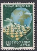 Yugoslavia Republic, Chess 1950 Mi#618 Mint Never Hinged - 1945-1992 Socialistische Federale Republiek Joegoslavië