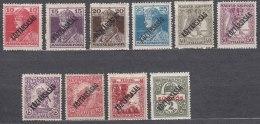 Hungary 1918 Koztarsasag Ovpt. Stamps Lot