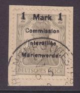 Marienwerder MiNr. 22AI Gest. Briefstück Gepr.