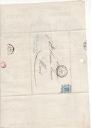X84 N° 18a Sur Lettre De ANDERLECHT  Pour MONS  Du 15 Fev 1867 De Manufacture Royale BOUGIE De L'ETOILE A DE ROUBAIX
