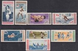 Dominican Republic 1958 Olympic Games 1956 Set Mi#660-667 Mint Never Hinged - Dominicaine (République)