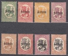 Russia Occupation Finland, Aunus (Olonez) 1919 Mi#1-8 Mint Hinged (last Stamp MNG)