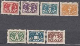Russia SSSR 1925 Without Wmk Mi#11-17 Mint Hinged