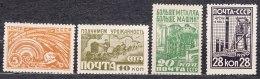 Russia SSSR 1929 Mi#379-382 Mint Never Hinged