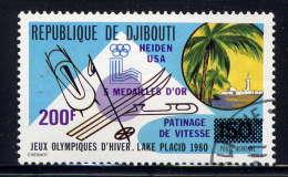 DJIBOUTI - A142° -  JEUX OLYMPIQUES LAKE PLACID